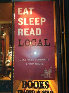 Live Local USA is a voice for small business and an advocate for independent retailers. We believe that a lifestyle based around community is better. Small Quotes, Like Quotes, Best Quotes, Buy Local, Shop Local, Indie Books, Green Tips, Reading Quotes, Best Places To Eat
