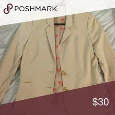 Tan Nude Blazer Purchased at H&M. Size 6. Great condition! H&M Jackets & Coats Blazers