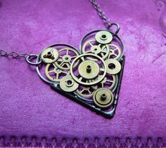 Clockwork Heart Necklace Touch Elegant by amechanicalmind on Etsy, $55.00