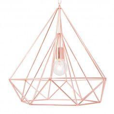 De draadlamp 'Diamond' is uniek in zijn kleur én vorm. Een absolute eyecatcher.