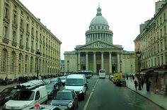 Vista do Pathéon da Rue Saint-Jacques, Paris