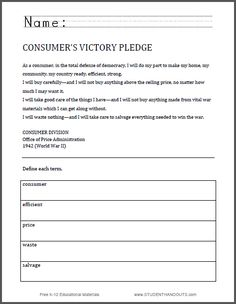 Martin luther king map worksheet students are asked to identify consumers victory pledge worksheet world war ii free to print pdf file gumiabroncs Images