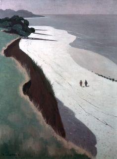 """Félix Vallotton, """"La falaise et la grève blanche (The Cliff and the White Shore),"""" 1913"""