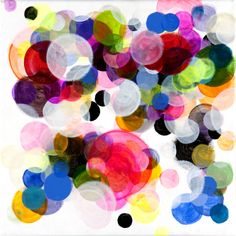 "Saatchi Online Artist: Paula Baader; Acrylic, 2011, Painting ""Circles#8"" Circles are one of my favourite shapes and this picture is so atmospheric and bursting with vibrance"