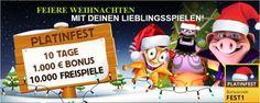 Weihnachten im Platincasino: Täglich tolle Bonus Geschenke !! http://www.spielothekenspiegel-automatenspiele-online.de/news4you