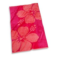 Hibiscus Floral 30' x 60' Beach Towel - Bed Bath & Beyond ($8.99) ❤ liked on Polyvore