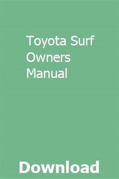 31 Best Toyota surf images in 2019 | Vehicles, Toyota surf