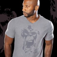 MENS GORILLA FACE V NECK One-color Gorilla Face image screen printed on front, small one-color PDI Clothing logo printed on top back. This 4.3 oz. super-soft blended v-neck t-shirt is made of 60% combed ring-spun cotton/ 40% polyester. Fabric laundered for reduced shrinkage. Available at www.pdiclothing.com Sizes: XS – 2XL. Available Colors: Dark Heather Grey, Midnight Navy Price: $19.99