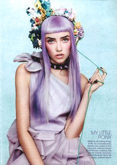 Cute lavender @Vera Kulikova Kulikova Kulikova Wang dress in @TeenVogue