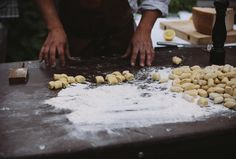 Memories of making gnocchi with my mom . . . we would make hundreds at a time!