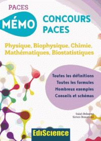 Salah Belazreg et Simon Beaumont - Mémo concours PACES - Physique, biophysique…