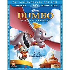 Disney Dumbo - 2-Disc Blu-ray and DVD Combo Pack | Disney StoreDumbo - 2-Disc Blu-ray and DVD Combo Pack - Let your spirits soar as you go beyond the big top to Walt Disney's timeless classic! Celebrate this film's 70th anniversary with a thrilling digital restoration and never-before-seen bonus features!