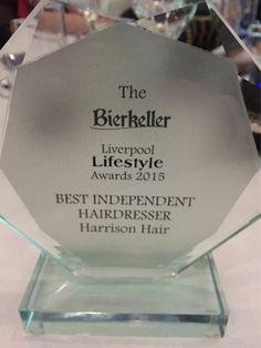 Best independent Hairdresser 2015 HARRISON HAIR STUDIO #hhsliverpool #liverpoollifestyleawads