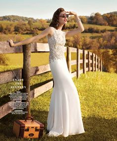 "A Look Inside the New Issue of Washingtonian Bride & Groom (Photos): Check out the gorgeous gowns featured in ""Road Trip Down the Aisle."""