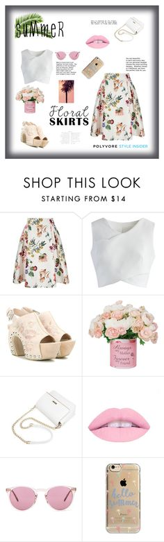"""""""Summer in Floral"""" by evelynn-cole on Polyvore featuring Yumi, Chicwish, Alexander McQueen, Oliver Peoples, Agent 18, summerstyle and Floralskirts"""