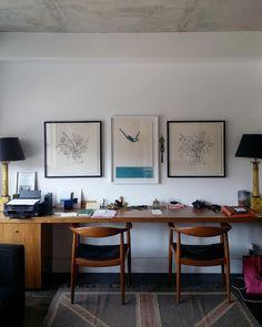 Three of my prints in a lovely loft in Toronto #art Alanna Cavanagh