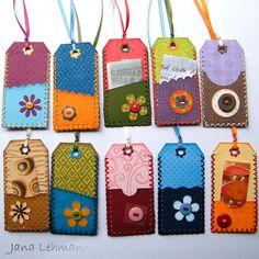 Tags (backside) | Jana Lehmann / feeliz via Flickr: cardstock & Colorbox chalks