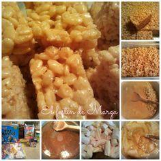 El festín de Marga: Barritas de krispies al caramelo de mantequilla salada