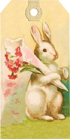Wings of Whimsy: Vintag Easter Bunny Tag - Set of 6 different ones - free for personal use Easter drawings Vintage Easter Bunny Tags – free printables Easter Art, Hoppy Easter, Easter Crafts, Easter Bunny, Easter Decor, Easter Ideas, Bunny Painting, Bunny Drawing, Bunny Art