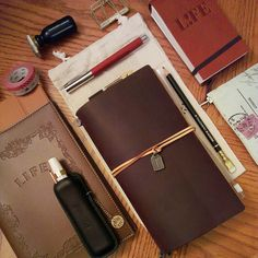 Leather Notebook, Leather Journal, Leather Case, Midori, Calligraphy Pens, Caligraphy, Bujo, Handmade Books, Day Planners