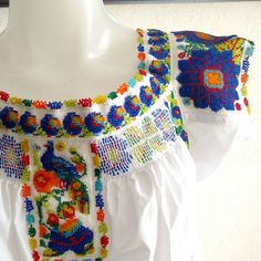 Coming soon! Mexican Blouse with chaquira embroidery.