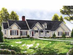 Farmhouse House Plan with 2378 Square Feet and 3 Bedrooms(s) from Dream Home Source | House Plan Code DHSW15061