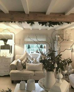 Clean clear cut lines with rustic beam and a flash of green this is bliss....perfect hide out retreat ❤