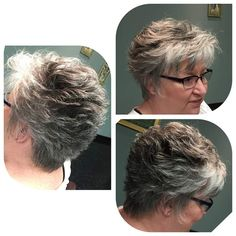 Luv the red! Short Grey Haircuts, Latest Short Haircuts, Short Thin Hair, Short Hair Cuts For Women, Hot Hair Styles, Curly Hair Styles, Middle Age Hair, Dying My Hair, Hair Color And Cut