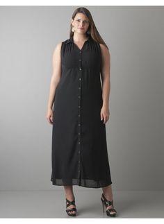 SCARLETT & JO Navy Sheer Maxi Shirt Dress With Front Splits   Plus ...