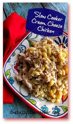 You must try this so EASY cream cheese chicken casserole made in the slow cooker! THM friendly!