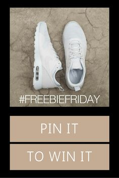 PLEASE NOTE: THIS COMPETITION HAS NOW ENDED! This week we're giving away a pair of Nike Tavas trainers. To be in with a chance of winning, just simply re-pin this post, follow us and comment telling us why we should pick you! #freebiefriday #pinterestcompetiton  *Subject to availability. Competition closes at 5pm. Winner announced on our Facebook page http://on.fb.me/1NFgX83