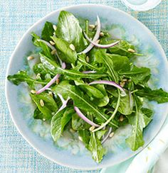Serves 4 Dandelion greens have long been used as a potent liver tonic. This riff on a traditional wilted spinach salad uses a warm dressing to soften the aggressive flavor of the dandelion greens. Add more spinach if you prefer a milder flavor. 1/4 cup pine nuts (hazelnuts, walnuts, or macadamias also work well) 1/4 cup extra-virgin olive oil, divided 1 medium shallot, chopped (about...  Read more »