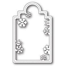 Memory Box SNOWFLAKE TAG POPPY STAMPS Craft Die 1661