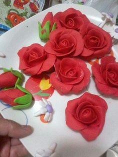 Rosas y botones.