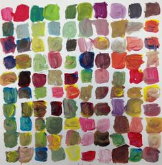 Mix 100 colours: The children were challenged to create 100 different colours. No washing your brush, just keep mixing {from TeachKidsArt}