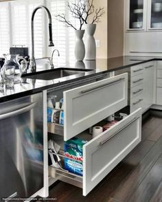 Great Cabinet Modern Organiser In The Kitchen