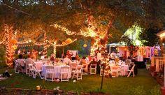 Evening Garden Wedding Reception