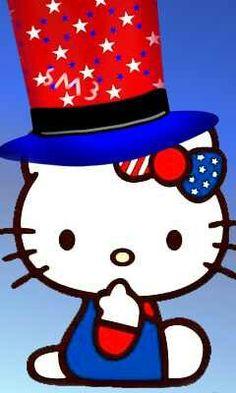Patriotic hello kitty