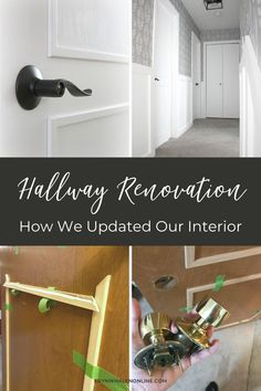Hallway renovation ideas. How we updated our interior. I'm sharing a tutorial and the materials list that we used! #homeupdates #DIY