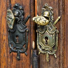Door knobs on the door to the House of Nobility in Stockholm