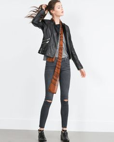 ZARA - WOMAN - LEATHER JACKET