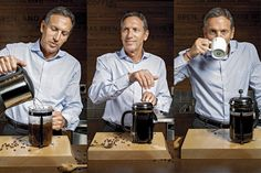 Howard Schultz on Making Coffee at Home: True believer in the Bodum French Press. With no support to his claim. Best Espresso, Espresso Coffee, Best Coffee, Coffee Coffee, Drip Coffee, Coffee Maker, Ways To Make Coffee, Making Coffee, Howard Schultz