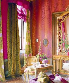 Designers Guild create inspirational home décor collections and interior furnishings including fabrics, wallpaper, upholstery, homeware & accessories. Bohemian Design, Bohemian Interior, Bohemian Decor, Bohemian Style, Boho Gypsy, Interior Bohemio, Tricia Guild, Living Colors, Estilo Cool