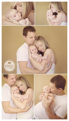 great family pose idea for newborn shoot