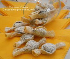 Caramelle ripiene di nutella. Facili e simpatici dolcetti che faranno impazzire grandi e piccini.