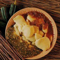 KABATÔH.  TÔH de mais à la sauce gombo. Ivorian Food