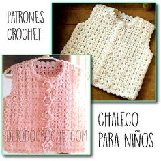 patrones alta calidad para chalecos de niños Free Crochet Jacket Patterns, Crochet Baby Poncho, Crochet Baby Sweaters, Crochet For Boys, Crochet Clothes, Freeform Crochet, Diy Crochet, Knitting Yarn, Baby Knitting