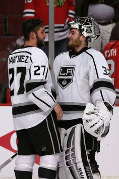 Alec Martinez , Jonathan Quick  -   and thousands of crying BlackHawk Fans  :)