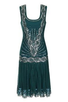 Zelda Flapper Dress Emerald