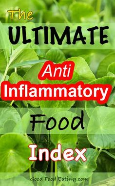 A great anti-inflammatory food index based on a research study with detailed food lists so you can include more of the foods to reduce inflammation and achieve better health.